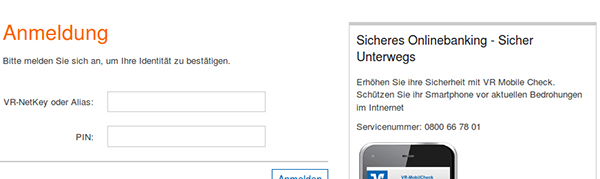 Phishing-Mail sicheres Online-Banking